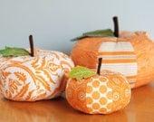 Patchwork Pumpkins set of three