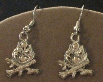 Campfire Pewter Earrings