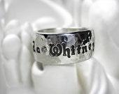 Brilliant Diamonds Personalized Fine Silver Ring - Design Your Own
