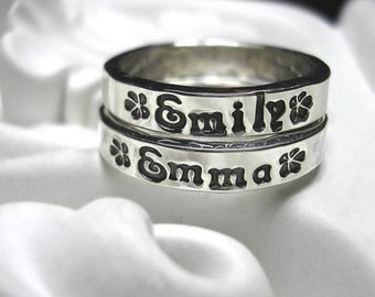 Personalized Ring in RECYCLED Sterling Silver