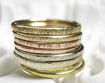 14K Recycled Gold Stacking Ring - one ring