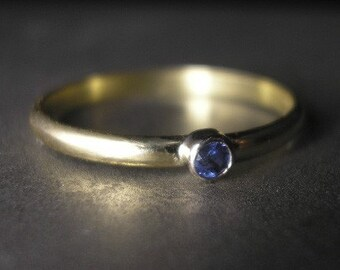 Stackable Sapphire 14K Gold Ring