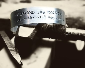 Design Your Own Cuff Bracelet w/ Personalized Message in RECYCLED Sterling Silver