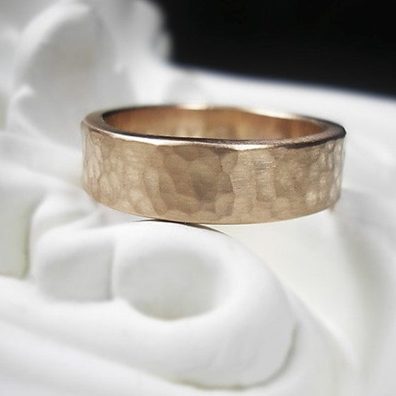 14k Recycled Rose Gold Wedding Band Handmade To Order