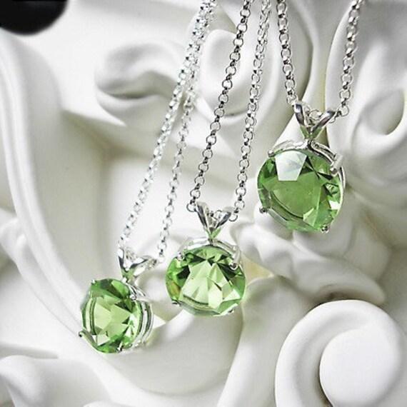 Peridot Vintage Glass Necklace