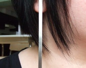 As-Tu du Feu - long and narrow sterling silver earrings