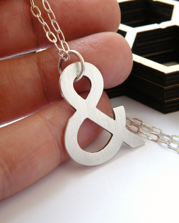 Ampersand pendant in sterling silver - monogram pendant / gift for bff / gift for sister / bridesmaid gift / nickel free pendant