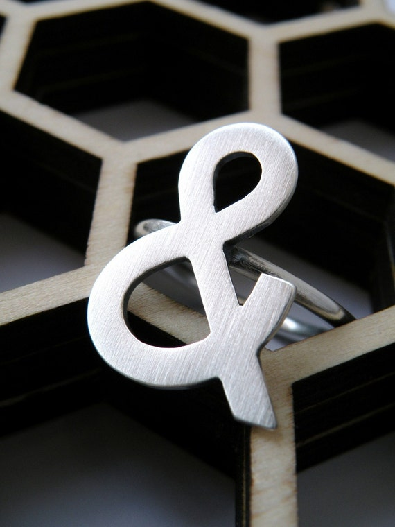 Ampersand ring in sterling silver - gift for her / gift for bff / gift for sister / nickel free ring