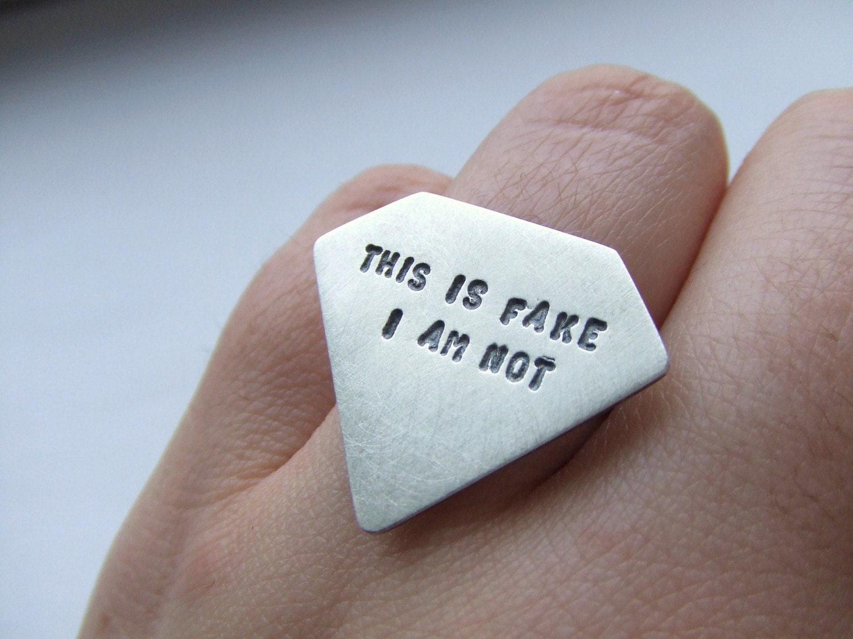 not fake diamond ring