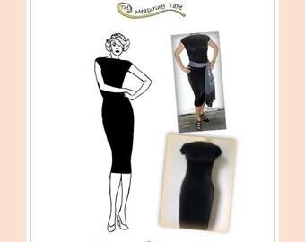 Paper Sewing Pattern for Women - Marilyn's LBD Sheath dress in knit or jersey  (Dress, Christmas)