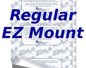 EZ Mount Rubber Stamp cling mounting cushion. EZMount Adhesive static cling mounting foam sheet 8.5 x 11 inch.