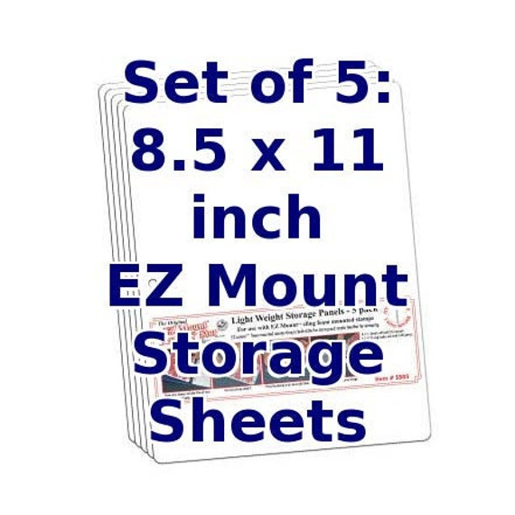 Rubber Stamp Binder Storage Sheets. 3-hole Punched Panels. 8.5