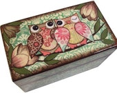 Recipe Card Box  ---Holds 4x6 Recipe Cards- READY To SHIP---OOPS