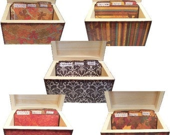 Recipe Tab Dividers STURDY (Set of 6)  To Coordinate with My Recipe Boxes, Organization, 3 x 5 or 4 x 6 MADE To ORDER