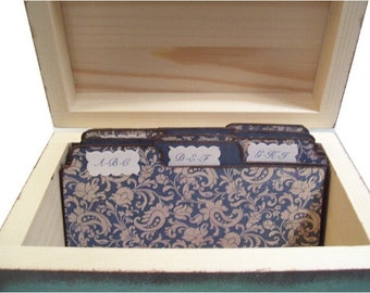Wedding Guest Book Box A- B - C Tab Dividers Very Sturdy (Set of 9) Coordinates with My Wedding Box 3 x 5 or 4 x 6 MADE To ORDER