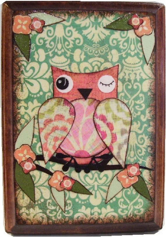 SALE Tonight Only--Wall Plaque or Key/Jewelry Rack--Decoupaged-READY To SHIP--5x7