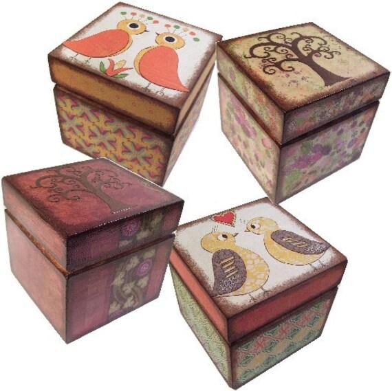 Keepsake Box, Trinket, Treasure, Storage Box, Decorative Box, Owl, Bird, Tree Decor, Baby, Child Organizer, Baby Room Decor, MADE TO ORDER