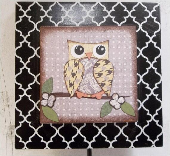 Wall Hook Owl Wall Decor  READY To SHIP