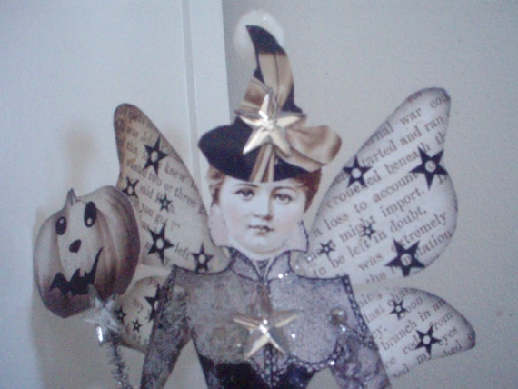 FAiRy WiTch PapER DoLL on Stand Etsyfolk