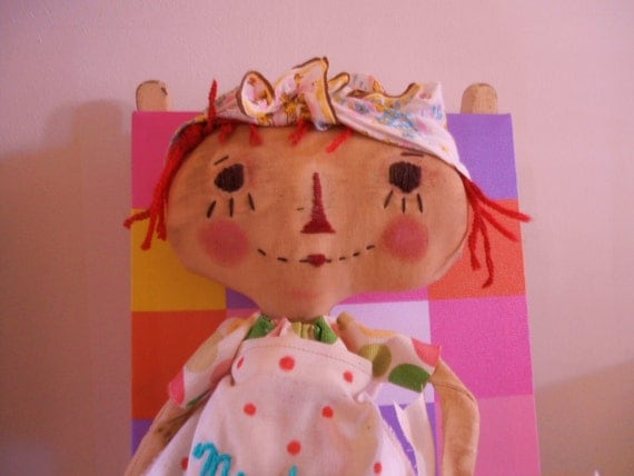 Primitive Raggedy Ann DoLL days of the week monday..reserved