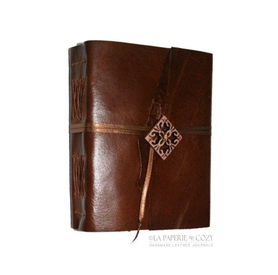 Leather Journal . THE POET - Edna St. Vincent Millay quote . handmade handbound (320 pgs)