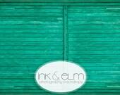 "Vinyl Photography Backdrop 4ft x 3ft, Photo backdrop Green Wood Slats Gate, Old Wood Backdrop, Photo Prop, Newborn Prop, ""Pooka Pooka"""