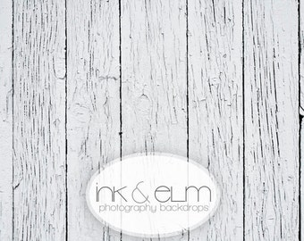 "Vinyl Photography Backdrop 2ft x 2ft, Photography Background Floor, Vintage Distressed White Wood Floor, Photo backdrop, ""White Woodslats"""