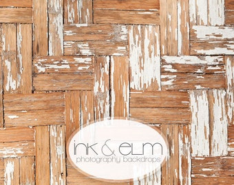 "Product Backdrop 3ft x 2ft, Vinyl Photography backdrop, Photography Social Media backdrop, Vintage Distressed Wood Floor, ""Cross Hatched"""