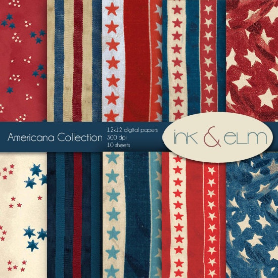 Vintage Americana Background Paper vintage americana byVintage Americana Background