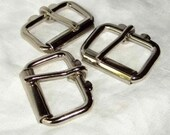 Roller Buckles 2 Inch Nickel Plated Package of 10