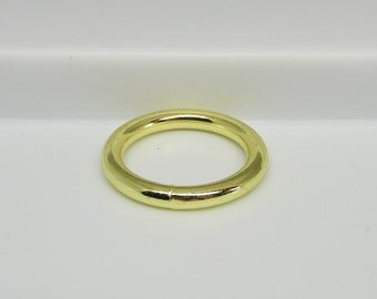 O Ring 1 1/4 Steel Welded Brass Plated metal Pk of 12