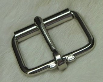 Roller Buckles 2 Inch Nickel Plated Pack of 2