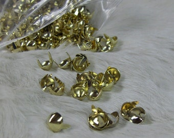 Cone Spots Nailheads Conical Brass Plated 3/8 Pack of 100