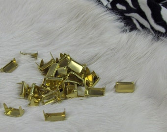 Solid Brass Rectangles 5/8 x 3/8  Pack of 10