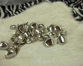 Round Nailhead Spots Nickel Plated 3/4 Pack of 100