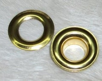 Solid Brass 1/2 Grommets No. 4 Pack of 10