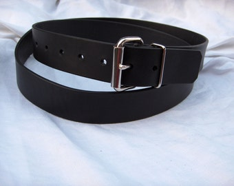 Black Leather Belt Men or Ladies Black Latigo Leather Belt Handmade Custom Orders Welcome