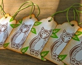 Tags Set of 6 Owls