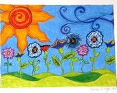 Bloomin' WildThings 9x12 Print