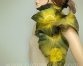 Felted scarf Eco Organic Forest Sun Leicester