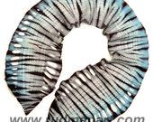 Felted Scarf Wool Silk Art hand dyed scarf Silver Blue Frozen