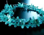 DESTASH SALE - Blue Kyanite Oval Gemstones  - 16 inch strand