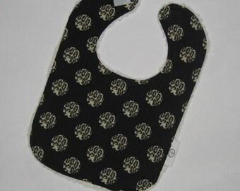 Cool Paris Bebe Leopard Dots and Chenille Boutique Bib - SALE