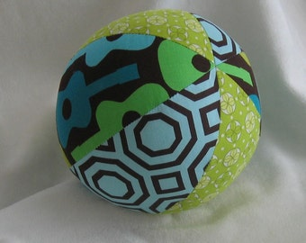 Michael Miller Groovy Guitar Fabric Boutique Ball Rattle Toy