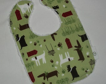 Cute Puppies and Chenille Boutique Bib