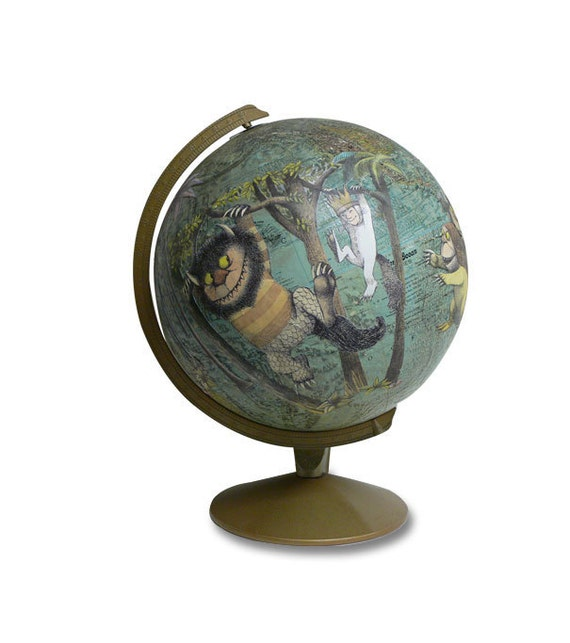 Where The Wild Things Are, Vintage Globe Art
