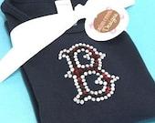 RED SOX short sleeve RHINESTUD tee by Daisy Creek Designs