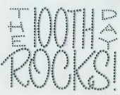FIRST class shipping - diy The 100th DAY ROCKS iron on rhinestud transfer by 1286 Kids (formerly Daisy Creek Designs)