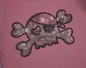 PIRATE rhinestud  tee by Daisy Creek Designs