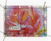5 dollar ART SALE - FLOWER original mixed media ACEO ATC